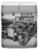 1949 Ford Pick Up Truck Bw Duvet Cover