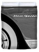 1950 Chrysler New Yorker Coupe Wheel Emblem Duvet Cover