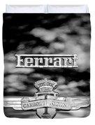 1950 Ferrari Emblem Duvet Cover