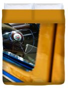 1950 Ford Custom Deluxe Woodie Station Wagon Steering Wheel Emblem Duvet Cover by Jill Reger