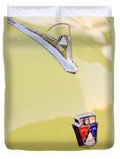 1950 Ford Hood Ornament - Emblem Duvet Cover