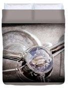 1950 Oldsmobile Rocket 88 Steering Wheel Emblem Duvet Cover