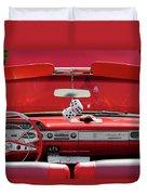 1950s Chevrolet Impala Detail Duvet Cover