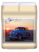 1951 Chevy Pick Up Duvet Cover