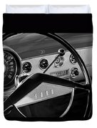 1951 Ford Crestliner Steering Wheel Duvet Cover by Jill Reger