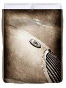 1951 Jaguar Grille Emblem Duvet Cover