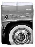 1951 Mercury Montclair Convertible Wheel Emblem Duvet Cover