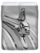 1951 Pontiac Streamliner Hood Ornament Duvet Cover by Jill Reger