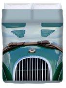 1952 Jaguar Xk 120 John May Speciale Grille Emblem Duvet Cover