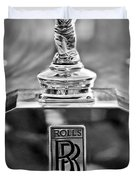 1952 Rolls-royce Hood Ornament Duvet Cover