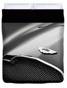 1953 Aston Martin Db2-4 Bertone Roadster Hood Emblem Duvet Cover by Jill Reger