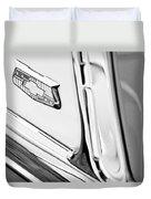 1953 Chevrolet Belair Convertible Emblem Duvet Cover
