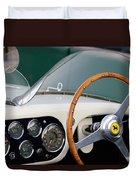 1953 Ferrari 340 Mm Lemans  Spyder Steering Wheel Emblem Duvet Cover