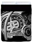 1953 Fiat 8v Ghia Supersonic Steering Wheel Duvet Cover