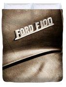 1953 Ford F-100 Pickup Truck Emblem Duvet Cover