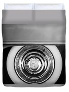 1954 Cadillac Coupe Deville Wheel Emblem Duvet Cover