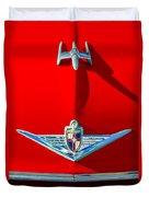 1954 Lincoln Capri Hood Ornament Duvet Cover