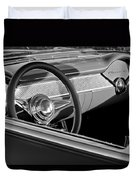 1955 Chevrolet 210 Steering Wheel Duvet Cover