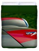 1955 Fiat 8v Zagato Hood Emblem Duvet Cover