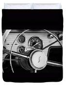 1955 Studebaker President Steering Wheel Emblem Duvet Cover by Jill Reger