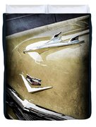1956 Chevrolet Hood Ornament - Emblem Duvet Cover