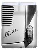1956 Fiat 600 Taillight Emblem Duvet Cover