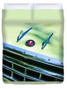 1956 Hudson Rambler Station Wagon Grille Emblem - Hood Ornament Duvet Cover