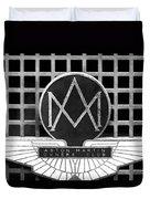 1957 Aston Martin Owner's Club Emblem Duvet Cover by Jill Reger