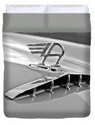 1957 Austin Cambrian 4 Door Saloon Hood Ornament Duvet Cover