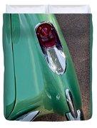 1957 Chevrolet Corvette Taillight Duvet Cover