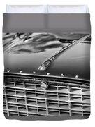 1957 Chrysler 300c Grille Emblem Duvet Cover