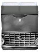 1957 Ferrari 410 Superamerica Coupe Grille Emblem Duvet Cover