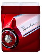 1957 Ford Custom 300 Series Ranchero Taillight Emblem Duvet Cover