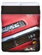 1957 Gmc V8 Pickup Truck Grille Emblem Duvet Cover