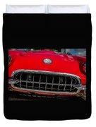 1958 Chevrolet Corvette Grille Duvet Cover