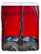 1958 Chevrolet Corvette Headlights Duvet Cover