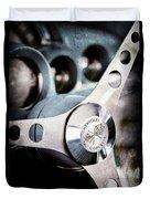 1958 Chevrolet Corvette Steering Wheel Emblem Duvet Cover