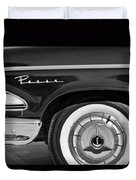 1958 Edsel Pacer Wheel Emblem Duvet Cover