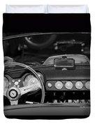 1958 Ferrari 250 Gt Lwb California Spider Steering Wheel Emblem -  Dashboard Duvet Cover