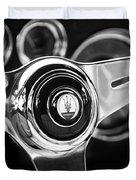 1958 Maserati Steering Wheel Emblem Duvet Cover