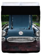 1959 Chevy Corvette Convertible Painted  Duvet Cover