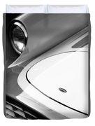 1959 Devin Ss Grille - Hood Emblem Duvet Cover