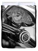 1959 Fiat Bianchina Semi-convertible Series II Steering Wheel Duvet Cover