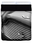 1960 Aston Martin Db4 Gt Coupe' Grille Emblem Duvet Cover