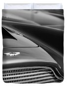 1960 Aston Martin Db4 Series II Grille - Hood Emblem Duvet Cover