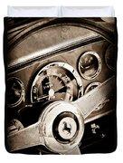 1960 Ferrari 250 Gt Cabriolet Pininfarina Series II Steering Wheel Emblem Duvet Cover by Jill Reger