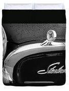 1960 Ford Galaxie Starliner Hood Ornament - Emblem Duvet Cover