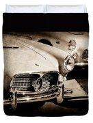 1960 Maserati Grille Emblem Duvet Cover by Jill Reger