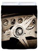1960 Maserati Steering Wheel Emblem Duvet Cover