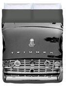1960 Triumph Tr 3 Grille Emblems Duvet Cover